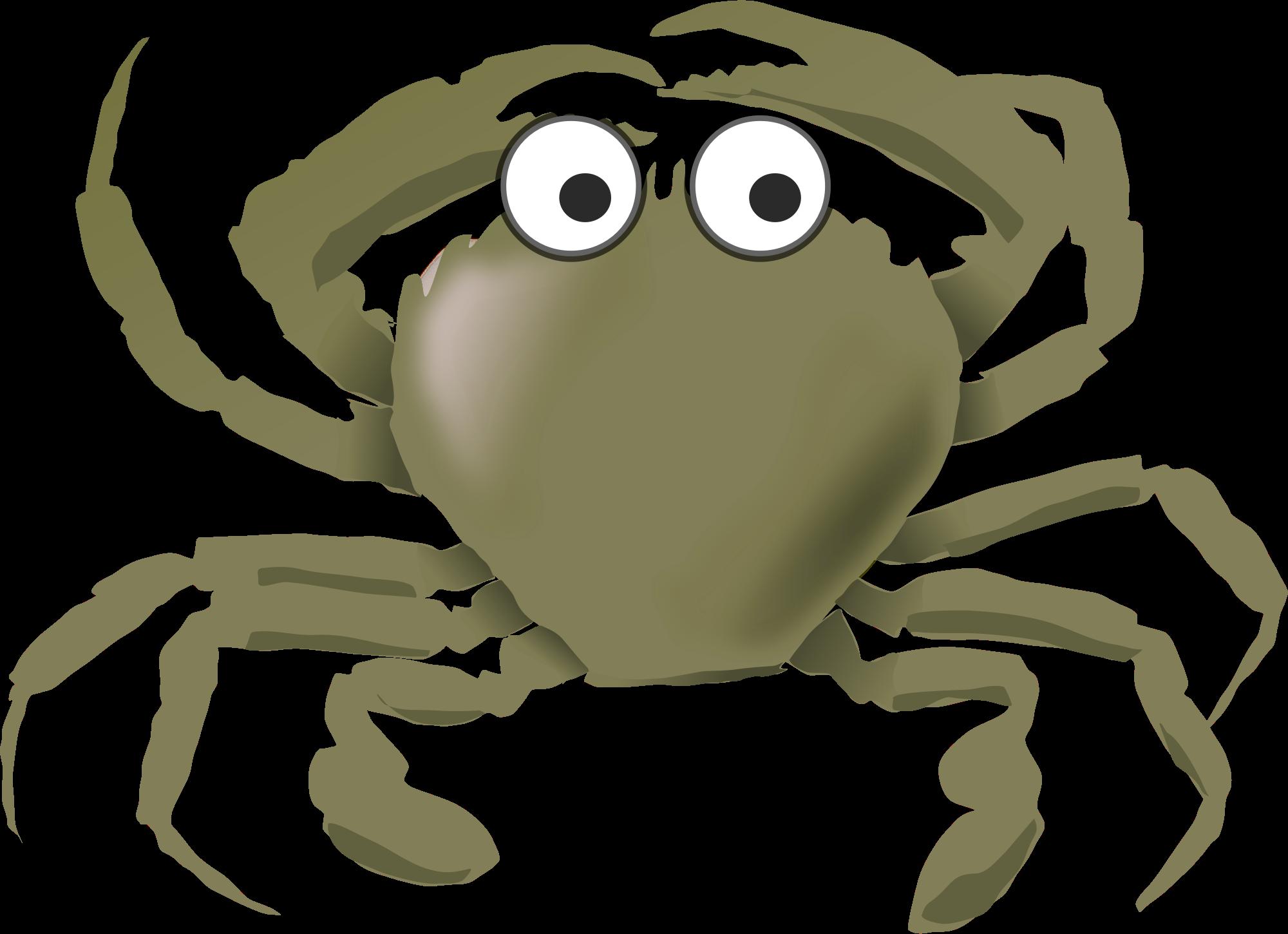 Gray Crab Vector Clipart.