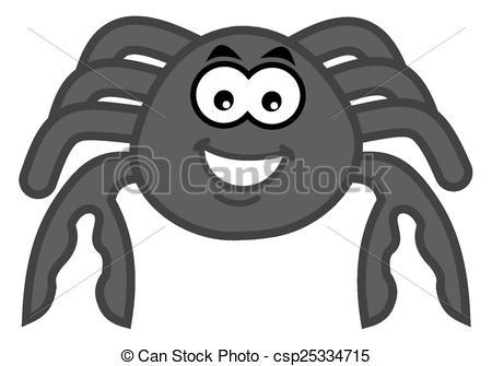 Vector Clip Art of a smiling grey crab csp25334715.