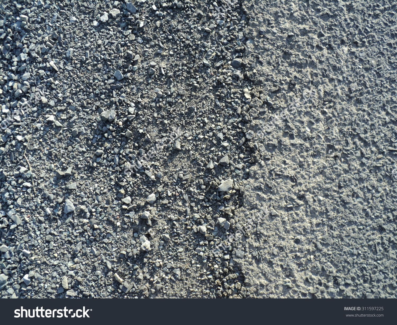 Gravel Road Asphalt Texture Background Top Stock Photo 311597225.