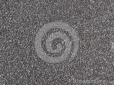 Dark Gravel On The Dirt Road Stock Photo.