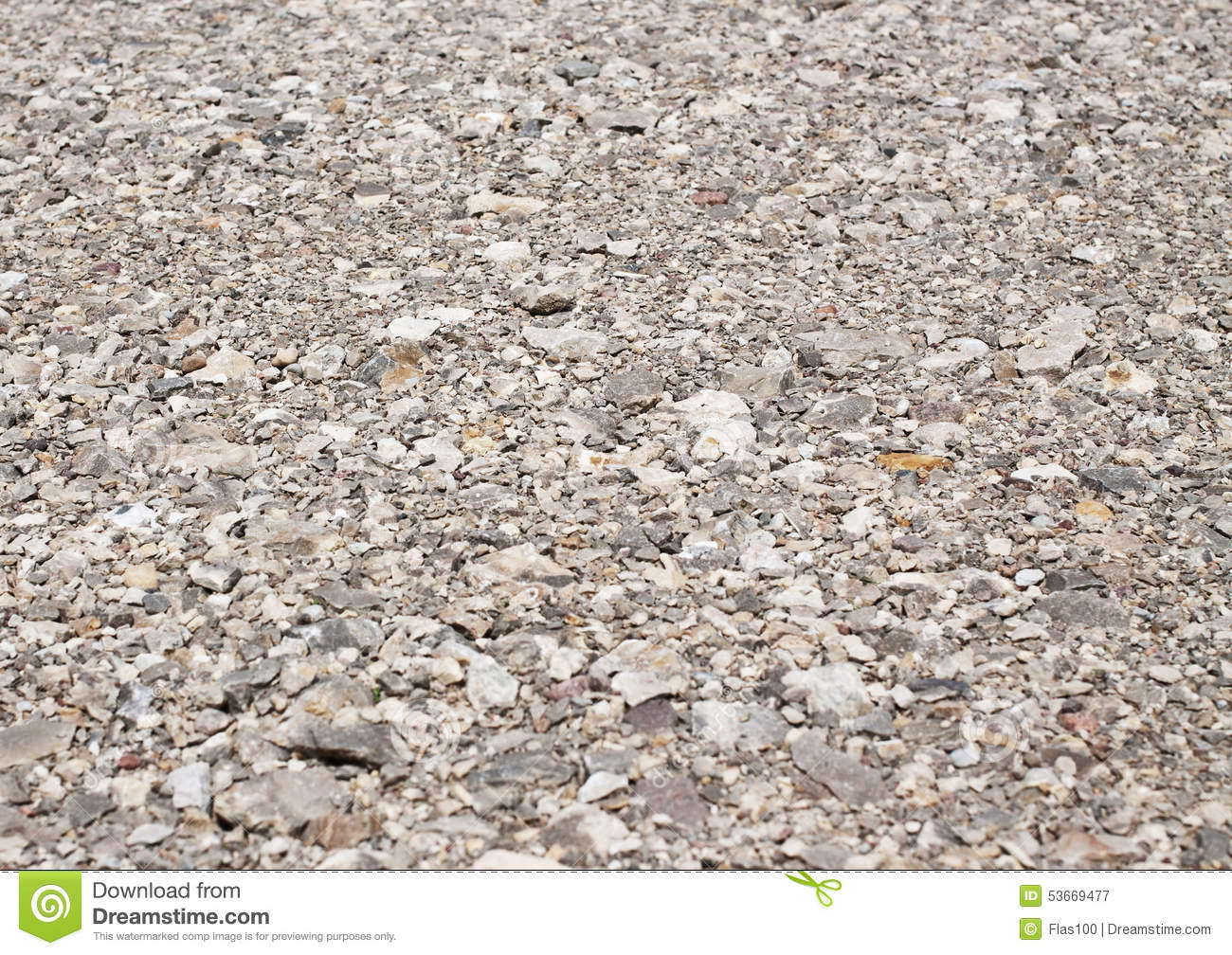 Background Of Gravel Road, Gray Stone Texture Stock Photo.