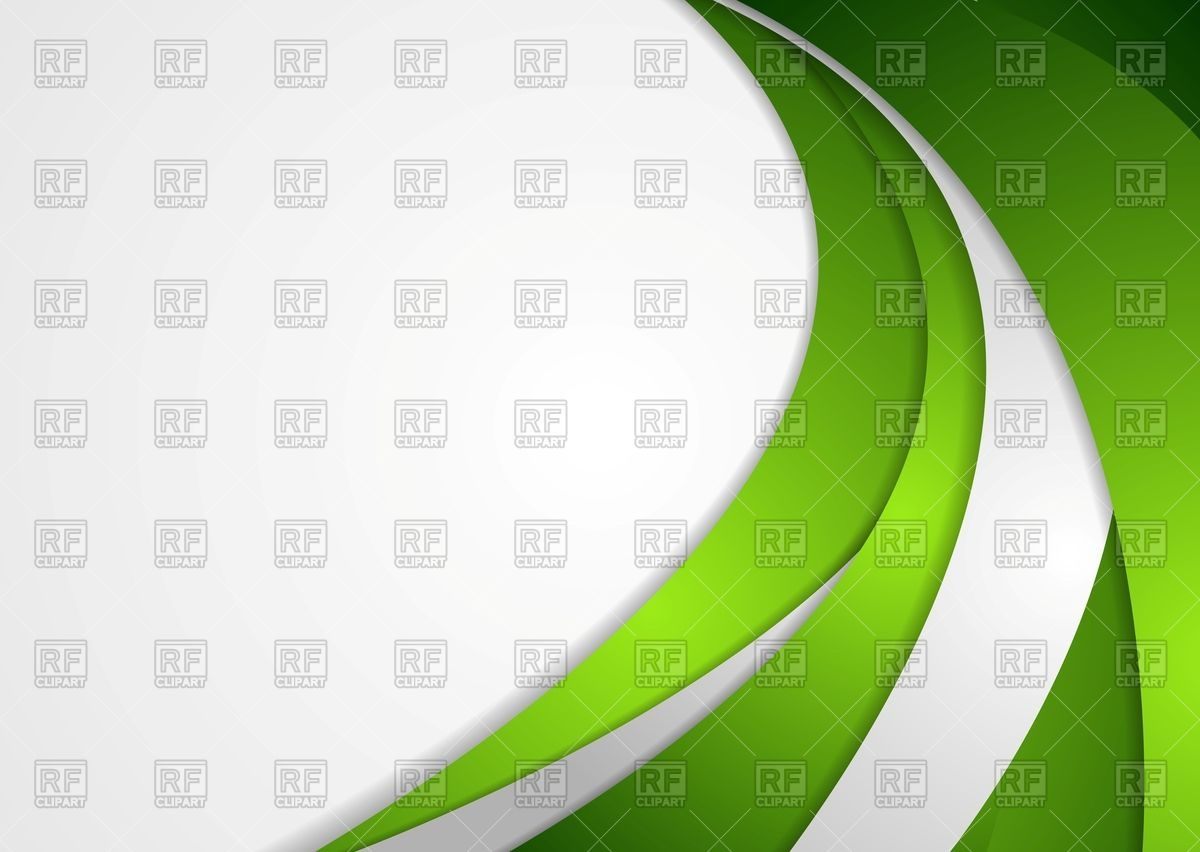 Green and grey corporate wavy background Vector Image #67572.
