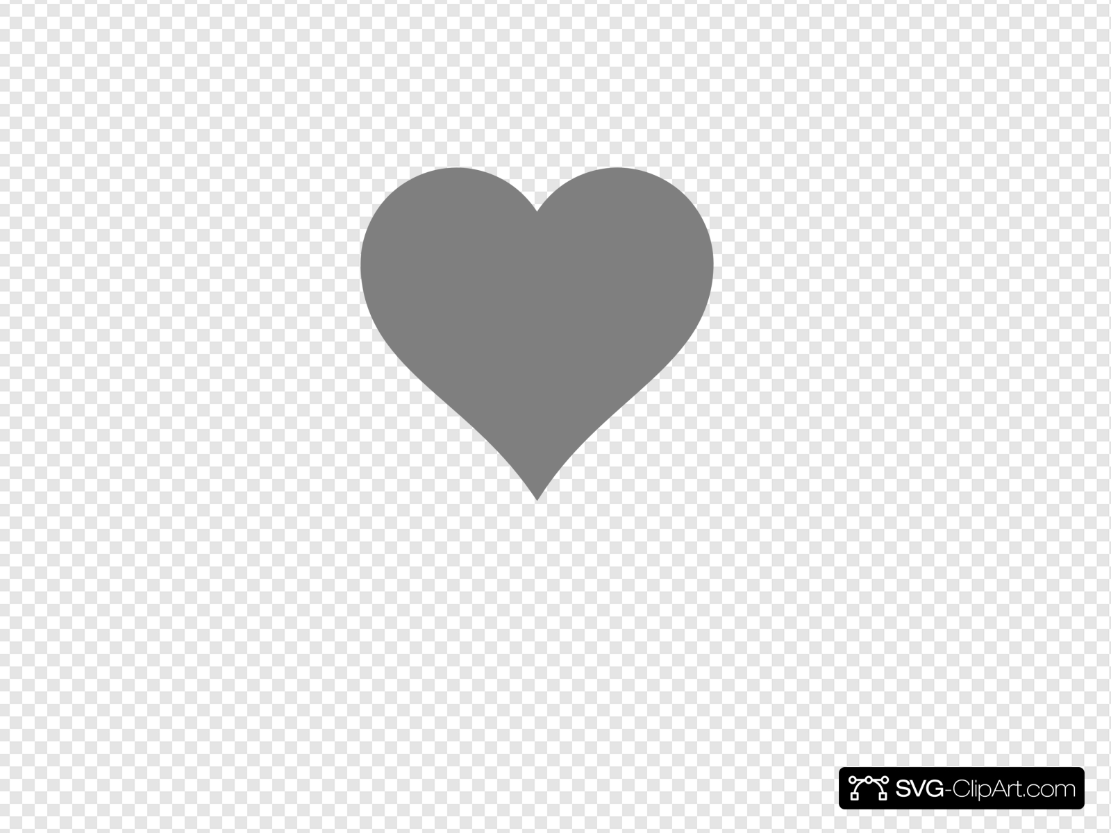 Solid Dark Grey Heart Clip art, Icon and SVG.