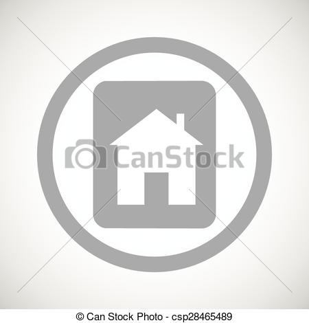 Vector of Grey house plate sign icon.