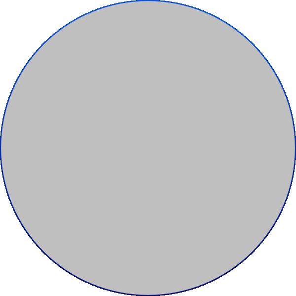 Grey Circle Clipart.