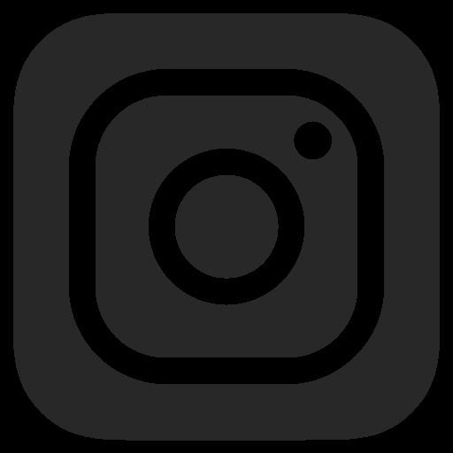 And white dark grey instagram icon.