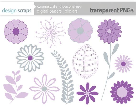Clip Art Purple Leaf Art Clipart.
