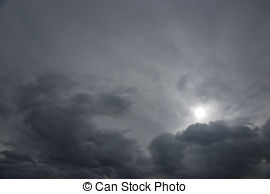 Stock Photographs of Gray moody sky.