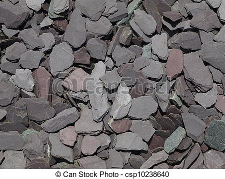 Stock Photo of Mixed garden slate chippings.
