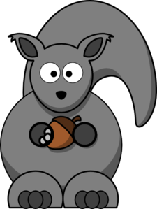 Grey Squirrel Clip Art.