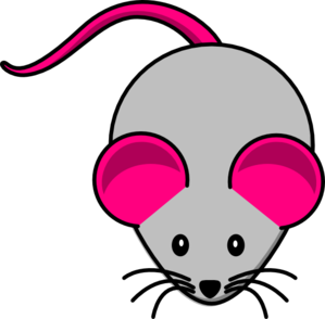 Grey Pink Mouse Clip Art at Clker.com.