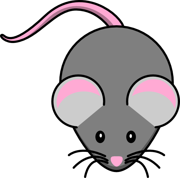 Pink And Grey Mouse Clip Art at Clker.com.