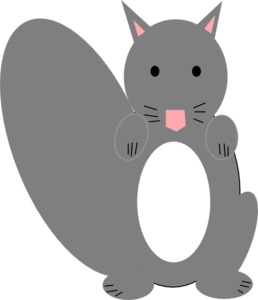 Grey squirrel clipart free clipart images.