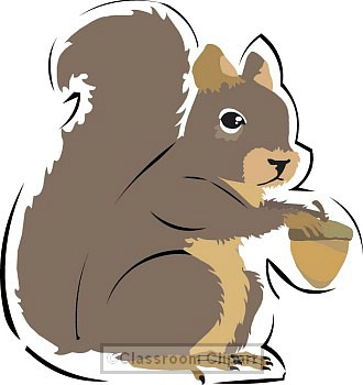 Squirrel Clipart.
