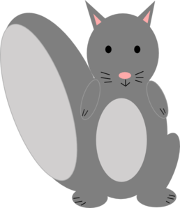 Grey squirrel clipart.