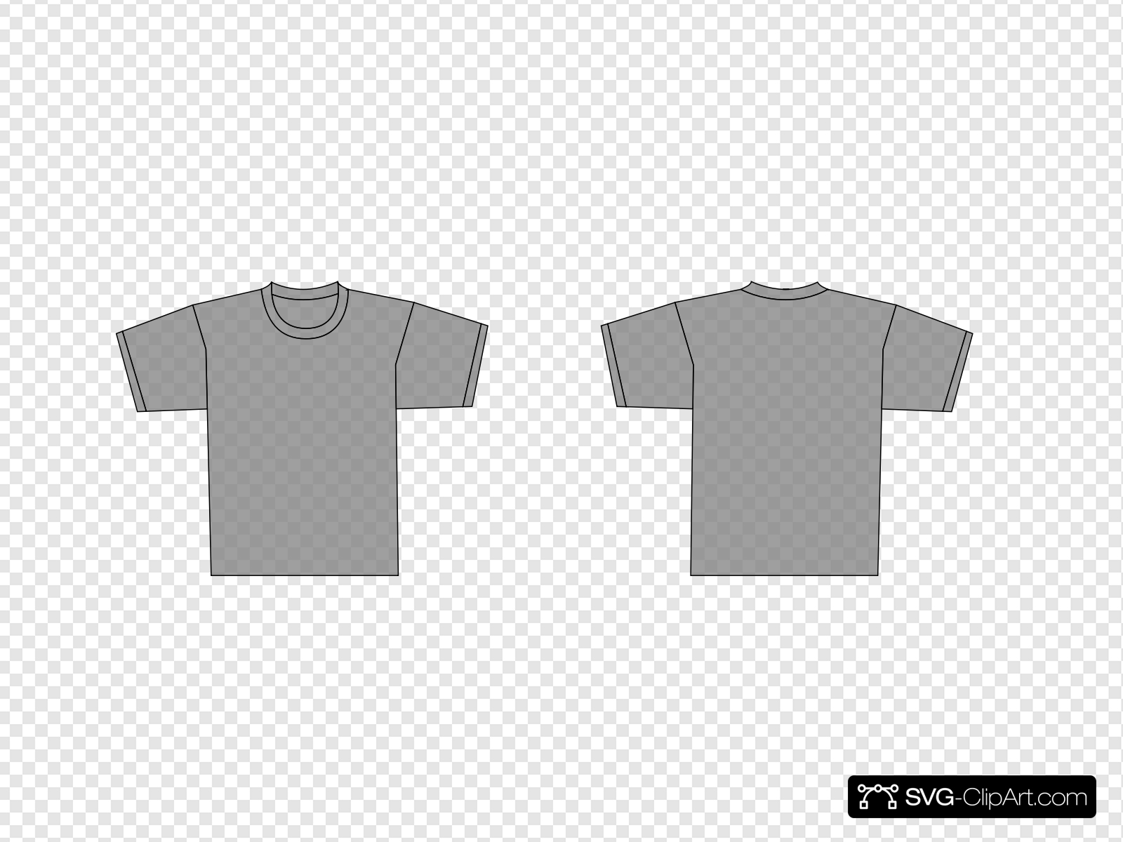Grey T Shirt Template Clip art, Icon and SVG.