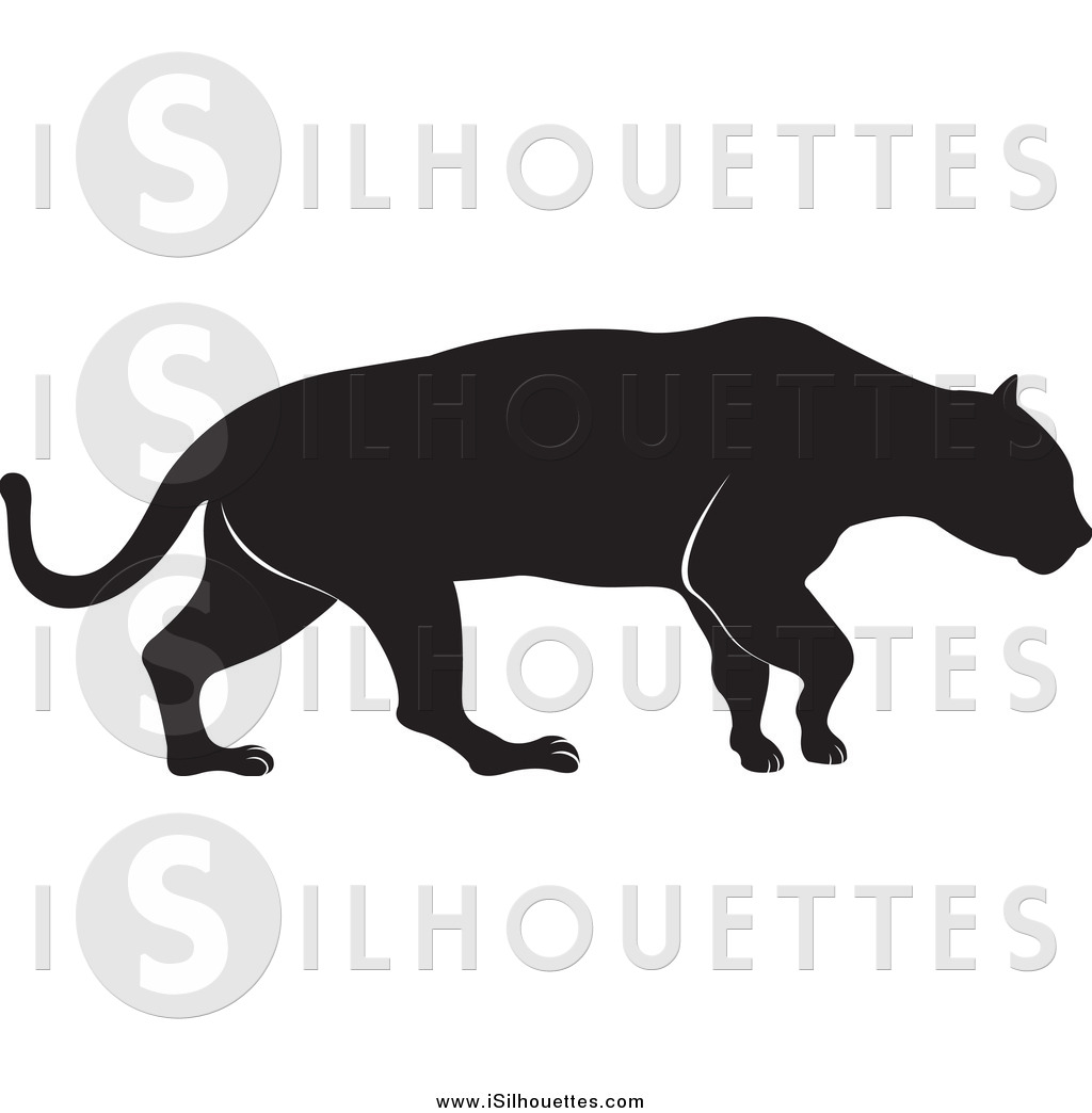 Royalty Free Wild Cat Stock Silhouette Designs.