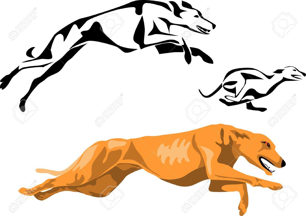 Greyhound clipart free.