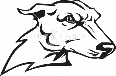 Dog greyhound football mascot clipart.