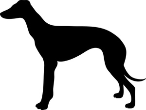 Greyhound dog clipart.