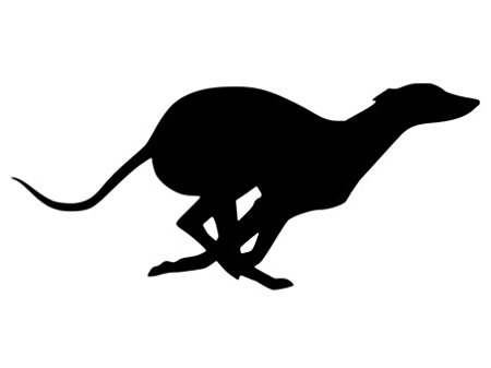 Running Greyhound Silhouette at GetDrawings.com.