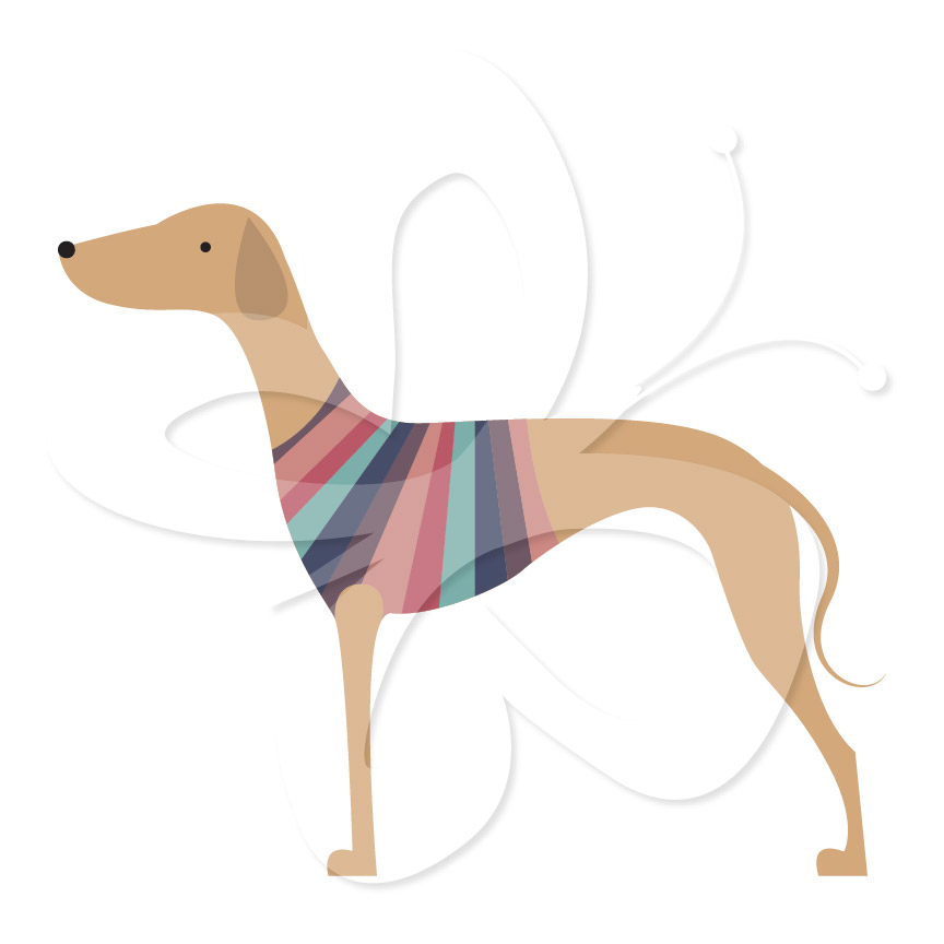 Greyhound Clipart Set.