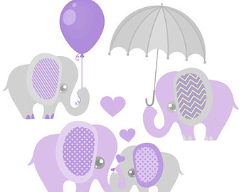 Purple Baby Rattle Clip Art.