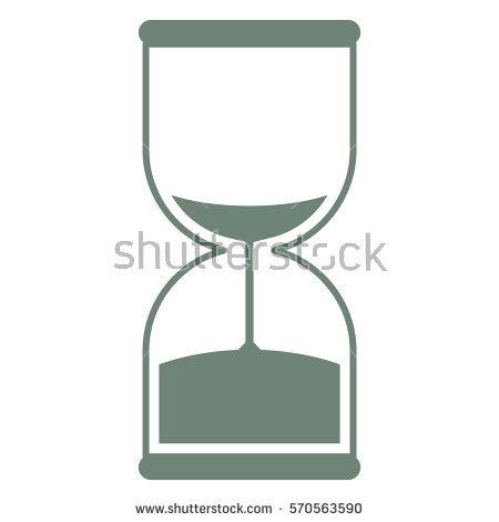 Vector Illustration Maroon Sand Timer Icon Stock Vector 569583457.