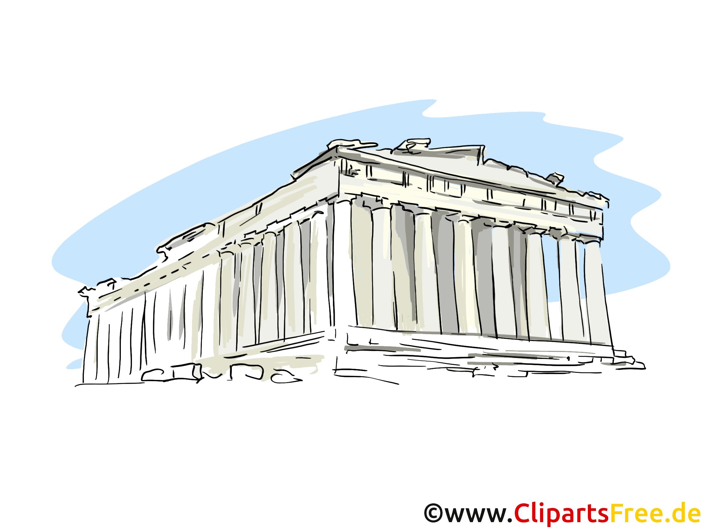 Akropolis Griechenland Clipart, Bild.