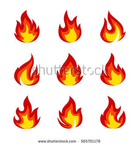 Flames Stock Photos, Royalty.