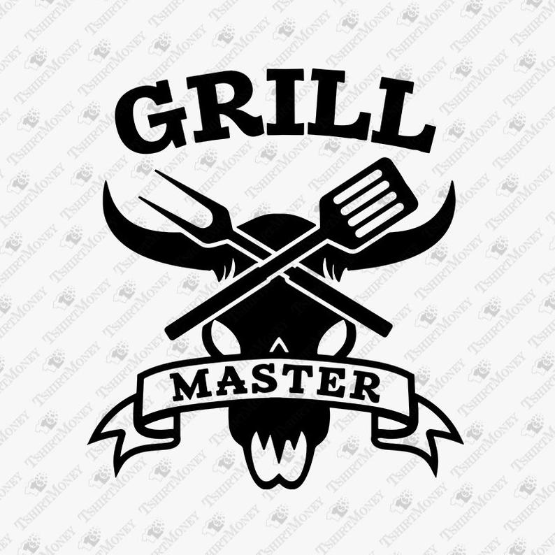 Grill Master SVG File, Barbecue, BBQ Svg, Cow Skull, Apron Design, SVG for  Decal, Vector Cut File, Clipart, Shirt Design, Png, Dxf, Svg.