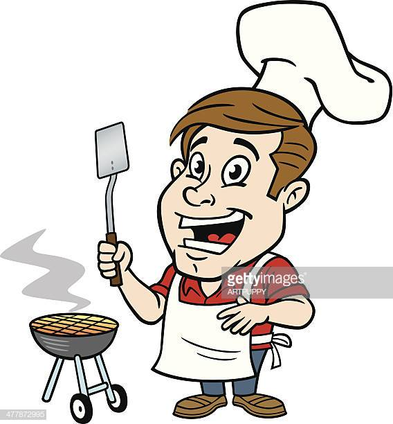 60 Top Man Grilling Stock Illustrations, Clip art, Cartoons, & Icons.