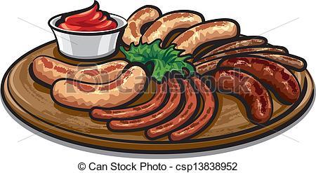 Bbq sausage clipart.