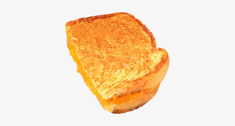 Half Grilled Cheese Sandwich Transparent PNG.