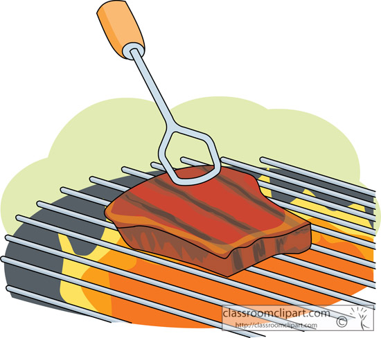 Grilled Steak Clipart.