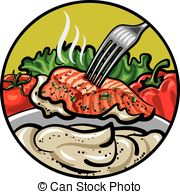Grilled fish Clipart Vector Graphics. 1,860 Grilled fish EPS clip.