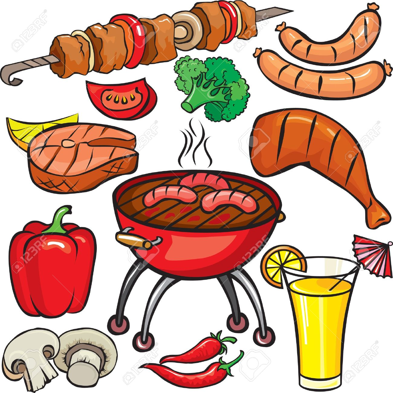 Grilled Meats Clipart Clipground