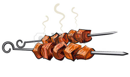 Grilled meats clipart - Clipground