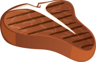 Cartoon Steak Clipart.