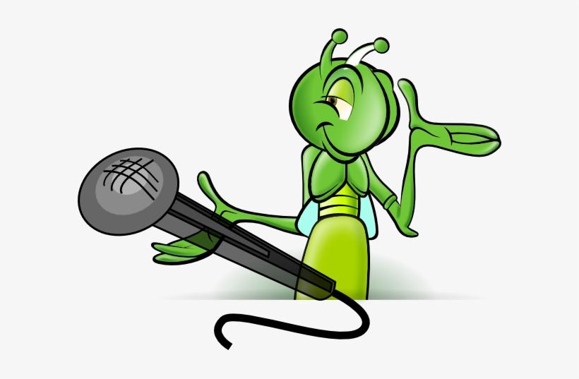 Cricket Microphone Clip Art.
