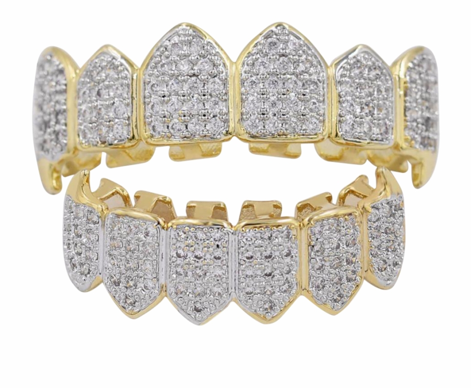 Iced Out Cz Diamond Teeth Grillz.