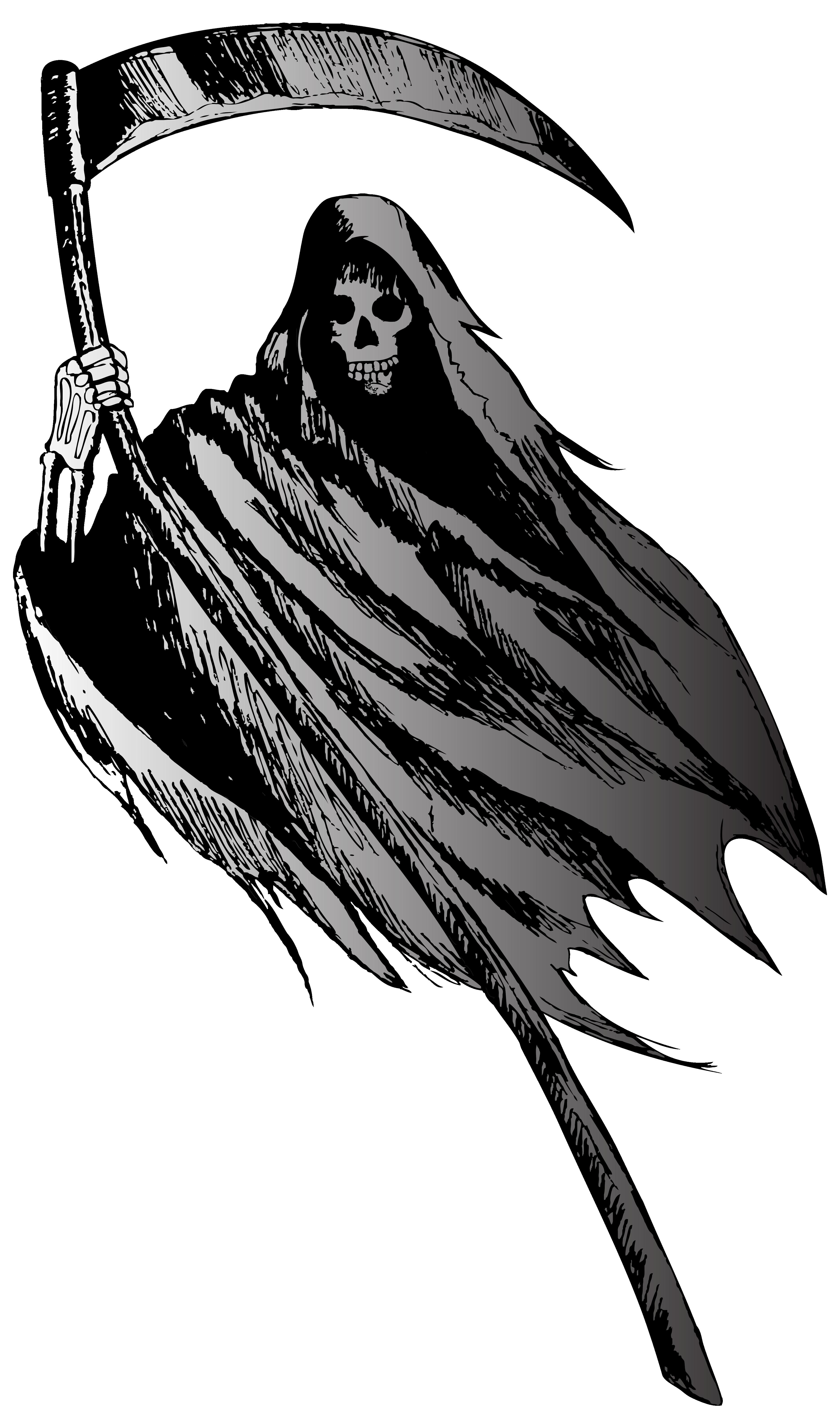 Grim Reaper PNG Clipart Image.