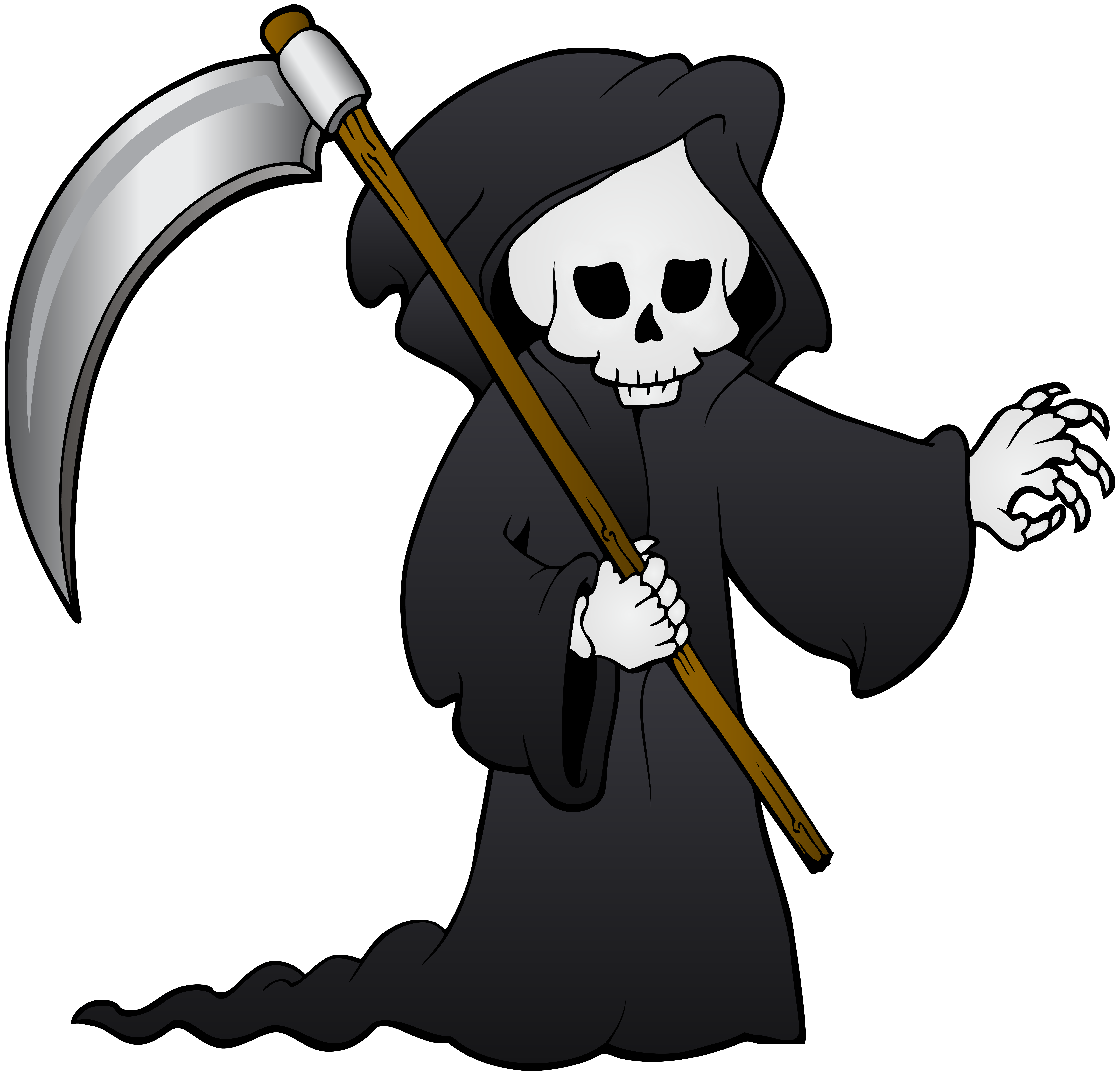 Grim Reaper PNG Clip Art Image.