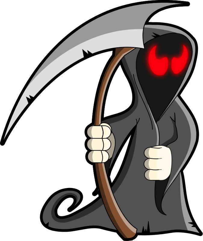 Free to Use & Public Domain Grim Reaper Clip Art.