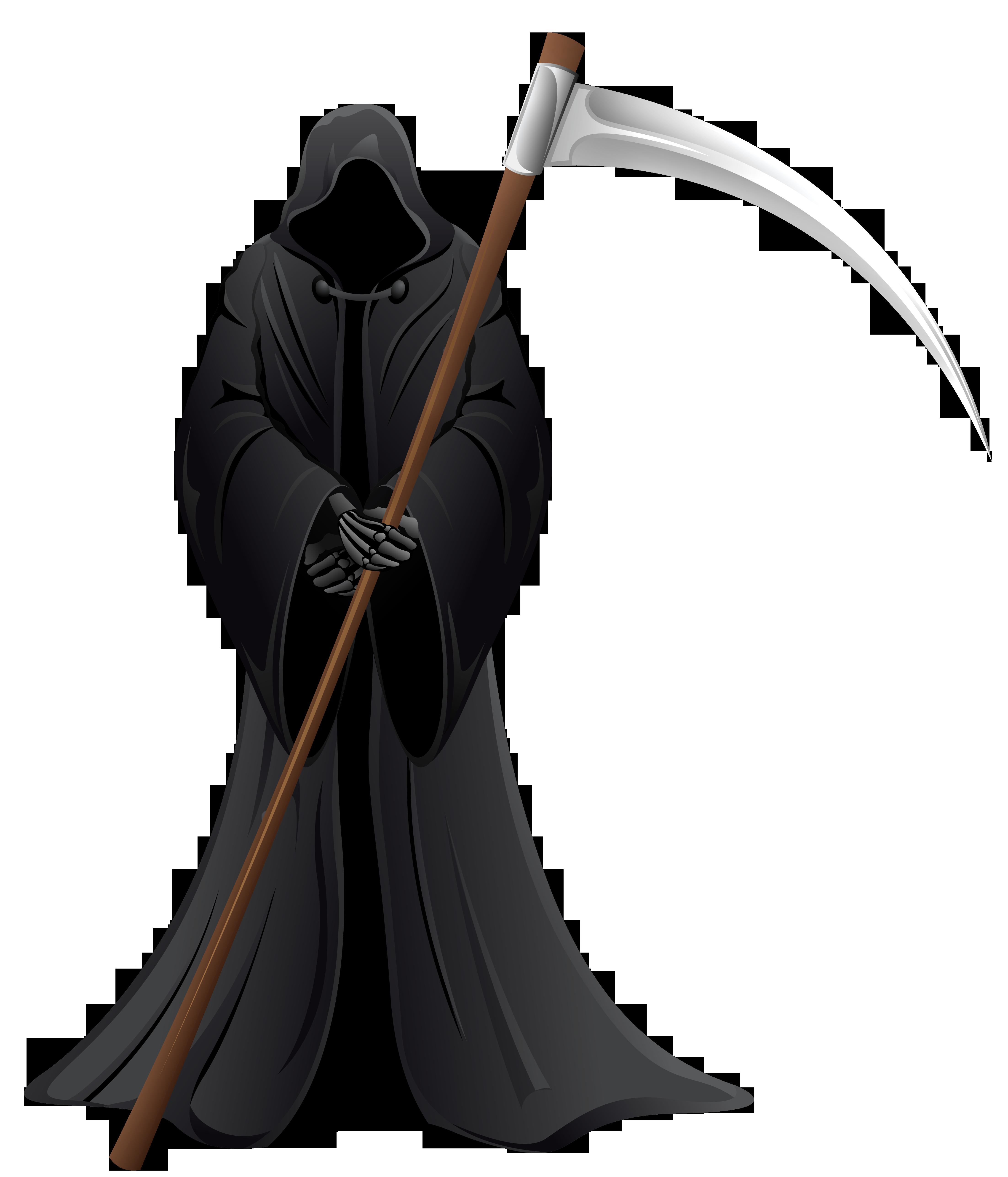 Grim Reaper PNG Vector Clipart.