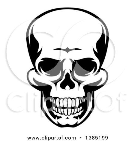 Clipart Illustration of The Head Of The Grim Reaper, Partially In.