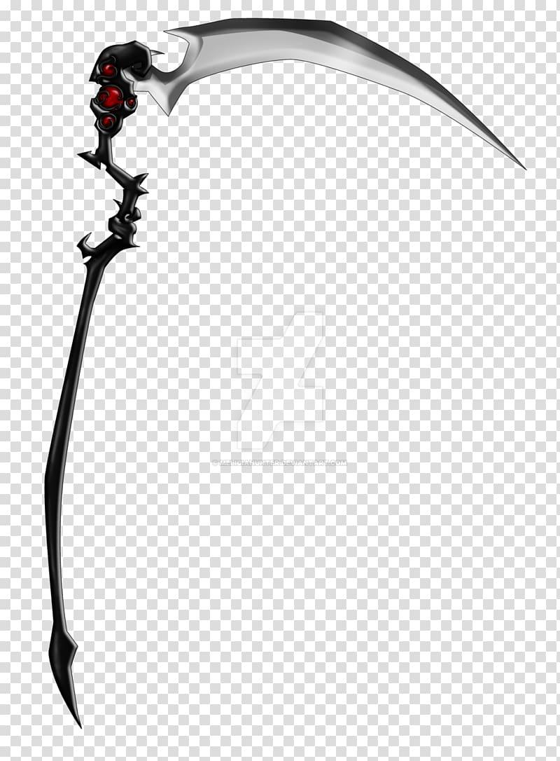 Black and gray scythe art, Death Scythe Spirit Albarn Weapon.