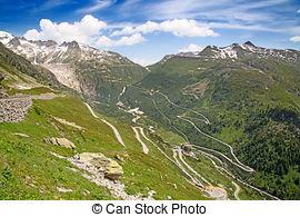 Stock Photo of Grimsel Pass summer landscape (Switzerland.