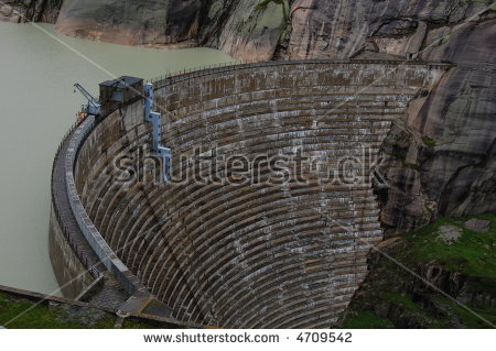 Grimsel Pass Hydroelectric Dam Switzerland This Stock Photo.
