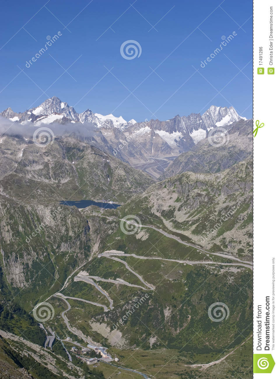 Grimsel Pass Royalty Free Stock Image.